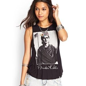 Forever 21 Frida Kahlo muscle tank top